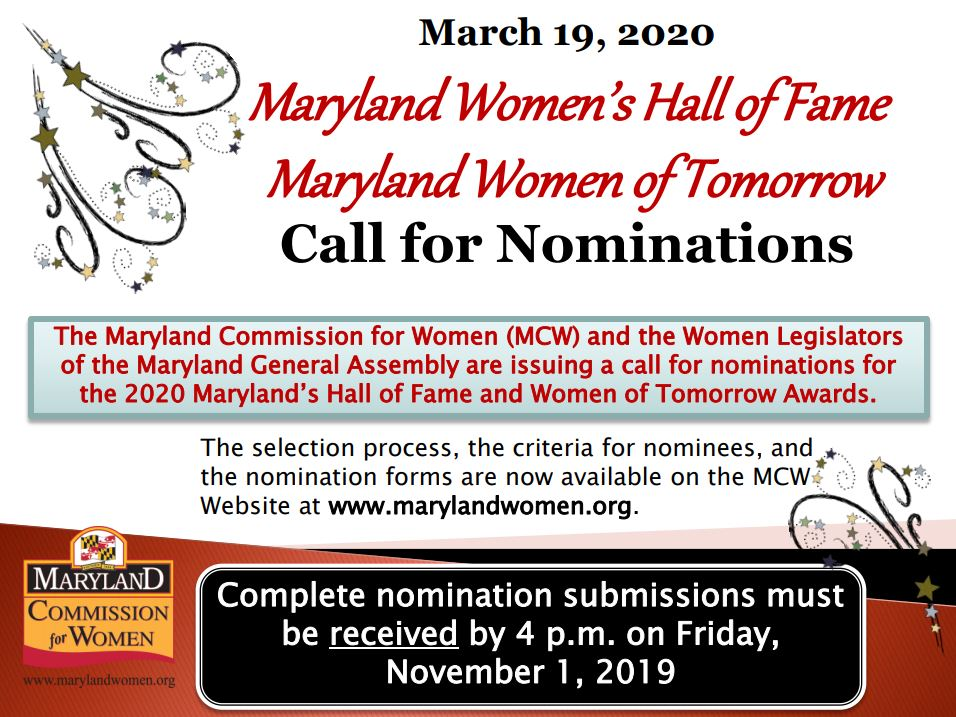 Maryland Commission for Women - Hall of Fame