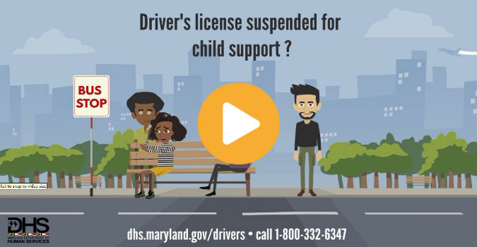 Driver's license suspended for child support?